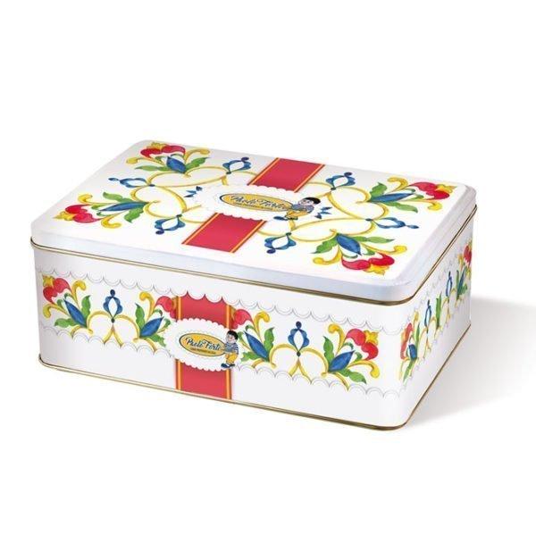 latta decorata confezione regalo biscotti siciliani paolo forti castelbuono